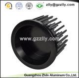 El cuadrado forma los disipadores de calor de aluminio del girasol del material de construcción