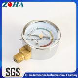 Dial de cuatro colores para el latón de acero de la caja de los manómetros amonestadores interno
