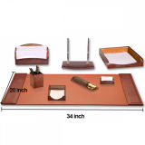Insiemi di cuoio professionali di lusso del tavolo dell'organizzatore per il regalo di affari