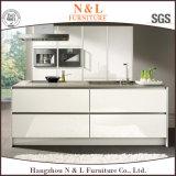 N&Lのモジュラー白いラッカーMDFの食器棚