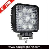 E-MARK IP67 imprägniern 4 quadratisches LED Arbeits-Licht des Zoll-27W für LKW-Schlussteil-Gabelstapler