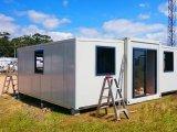 La partición de bienes muebles prefabricados ampliable Contenedor de estructura de acero Casas en venta
