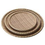 Hot Sale le plastique de haute qualité du grain de bois de 9 pouces, plaque ronde