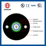 12 modo del conducto de la base solo de fibra del tubo central aéreo del cable óptico GYXTW