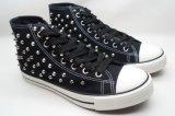 La moda de alta calidad Dama Zapatos de lona con estrás en la parte superior (15ra13029)