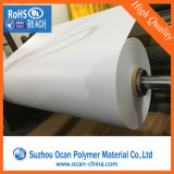 roulis blanc opaque dur de feuille de PVC de 0.2mm Matt pour l'impression d'écran