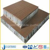 장식적인 목제 곡물 정면 클래딩을%s 알루미늄 벌집 샌드위치 위원회