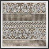 Laço químico da guipura do laço do bordado do laço geométrico da guipura