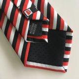 Le polyester tissé conçoivent la relation étroite en fonction du client de collet de logo (L041)