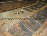 de 40FT du lit plat 2axle remorque semi (pour le marché de la Mozambique)