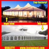 100人のSeaterのゲストのための結婚のための明確な最も高いピークの混合された玄関ひさしのテント