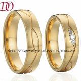De nieuwe Trouwring van de Verlovingsring van de Manier Gouden voor de Romantische Paren van de Liefde