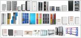 Armario de almacenamiento de la presentación de Metal económica laterales de acero de bloqueo de seguridad de archivos de Office Archivador de carpetas