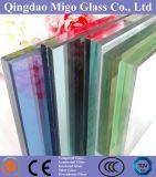 10mm a transparência do vidro float temperado laminado