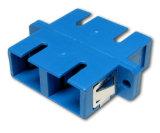Adaptador a dos caras de fibra óptica del Sc