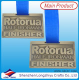 Custom americano Sports Medal Gold Brushed Metal Medals Get up e Train Medals per Half Marathon