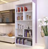 Het witte Eenvoudige Boekenrek Dersign van de Kleur