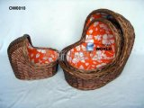 (BC-BA1006) Верба высокого качества Handmade носит & спит корзина младенца