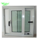 Vidro corrediço de PVC UPVC temperado simples/dupla cor madeira Janela Porta e janela de vinil barato Janela de PVC