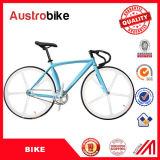 Vélo fixe bleu blanc de la couleur 26inch de la route 700c de vélo de Stee d'alliage de vitesse de bâti fixe en aluminium en gros de vélo bon marché en vente