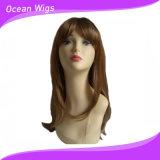 Perruque synthétique de cheveu de plus longue de cheveu couleur de mélange