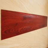 Vinyle commercial de PVC en bois parquetant l'étage arrière sec de vinyle