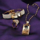 Femmes saoudiens de modèle de fantaisie de Rhinestone d'or Wedding le jeu de bijou