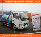 Dongfeng 4*2 180HP 6cbm 찌끼 흡입 트럭