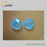 2h 15mm Plastic Clear White Pearl Button