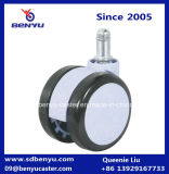 Haste preto e branco do anel roda do rodízio de 2.5 polegadas