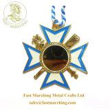カスタム円形浮彫りの憲兵の記念品の星メダル