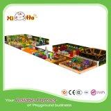 Размер спортивной площадки материальных детей PVC стальной рамки крытый