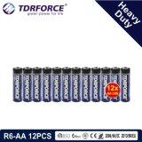 China 1,5V Fabrico Bateria Pesado para o detetor de fumaça (R03-AAA 6 PCS)