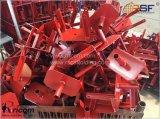 Красной окраски опалубки сооружением опорный Forkhead