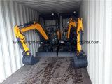 Excavatrice en caoutchouc d'écran de piste des machines 1800kg de la terre de Wy18h mini