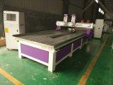 セリウムの回転軸線の二重ヘッド木工業CNC MDFのルーター機械