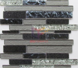 Зерно из дерева и мрамора стеклянной мозаики плитки (СГК725)