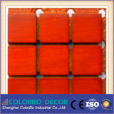 Painel acústico da madeira de madeira da parede do MDF do painel acústico da madeira
