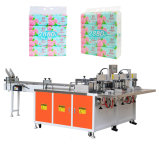 Machine à emballer de serviette de papier d'emballage de tissu facial de 10 paquets