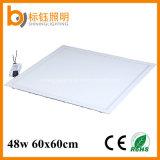 Indoor 600x600 mm carré ultra mince Slim 48W à LED Éclairage du panneau de plafond