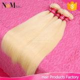 613 pacotes brasileiros louros Curly do descorante/profundamente da onda/onda do corpo/em linha reta do cabelo humano
