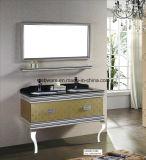 beau Module de vanité de salle de bains d'acier inoxydable de 100cm (LZ-1823)