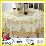 Nappe en PVC à lacets en or Crochet Round 180cm Wedding / Party Deco. (JFTB-007B)