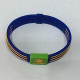 Профессиональным выбитый изготовлением Wristband силикона спорта