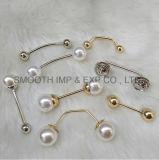 Nuovo Pin della perla dello scialle del risvolto della decorazione del Brooch dell'indumento del Rhinestone dei monili di disegno di modo