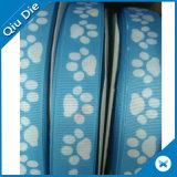 Transferência de Calor do grossista personalizado Grosgrain impressa azul de fita