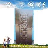HDF / MDF Piel de puerta de chapa moldeada de Ash / Teak / Sapeli / Oak