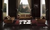 Sofá do couro genuíno da sala de visitas (SB0-3950)