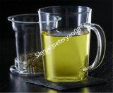 Hand durchgebrannter Glasbecher, Tee-Potenziometer, hitzebeständiger Tee-Cup-Borosilicat-Becher
