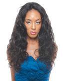 Fecho de renda real Onda Corpo Cabelo humano indiano Extensão de cabelo preto natural